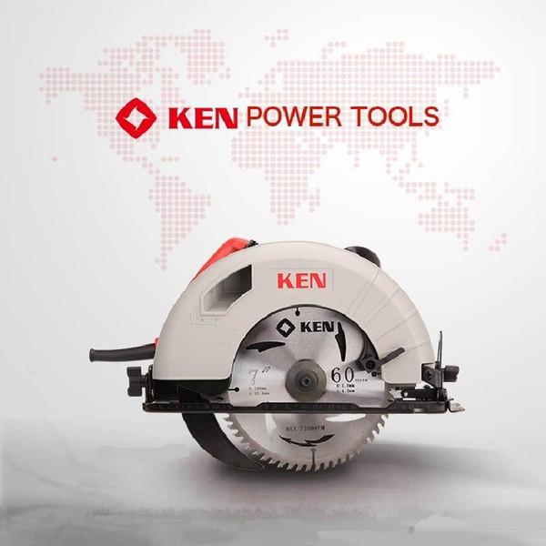 best selling KEN 1350W electric circular saw machine 5637 wood cutting machine woodworking decoration home portable multifunctional circular saw 7 inch