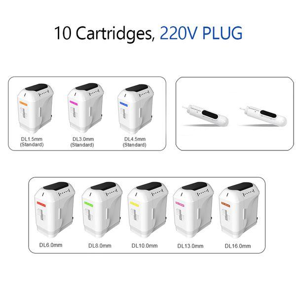10 Cartouches 220V