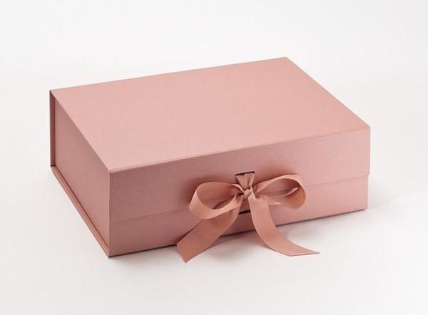 rosa personalizzato scatola d'oro 23x17x7cm