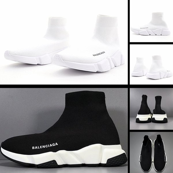 top popular 2020 new air cushion socks shoes men's and women's running shoes Pu outsole high elastic knit surface lightweight and comfortable sports sho 2020