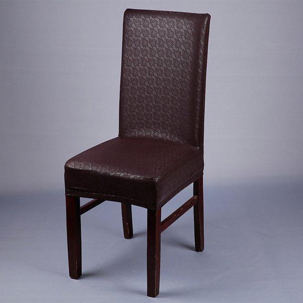 patrón de encaje de café cubierta de la silla de la PU