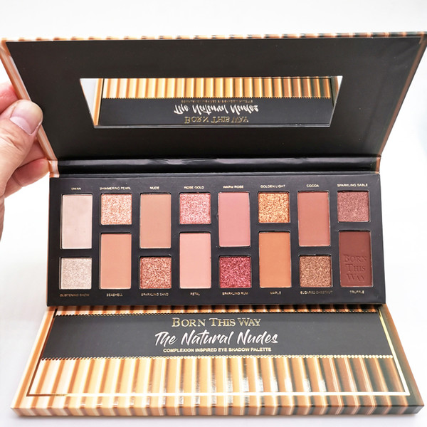 best selling Eye Cosmetic Born This Way The Natural Nudes palettes 16 colors Eye Shadow Shimmer Matte Makeup Eyeshadow Palette DHL