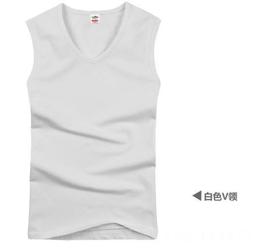 cuello en V blanco