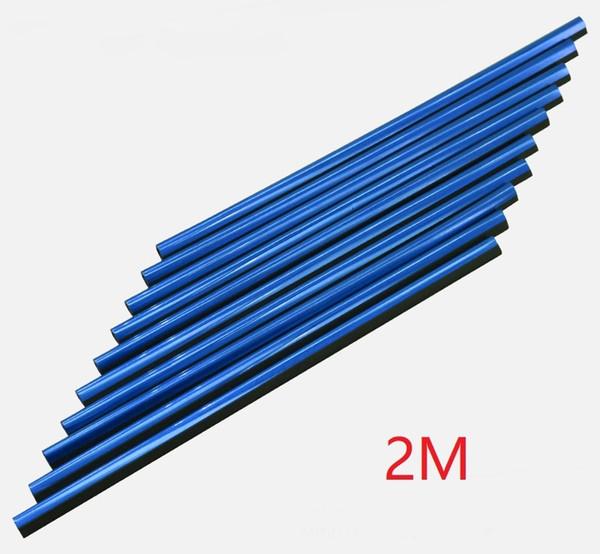 bleu, 2 m de long