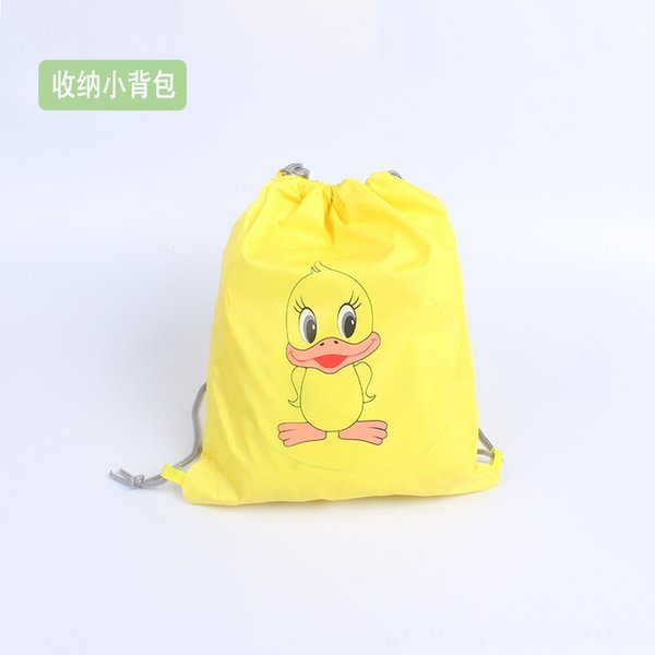 Small Yellow Duck Storage Backpack