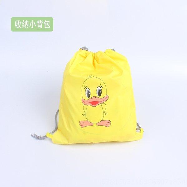Amarelo pequeno Duck armazenamento Backpack