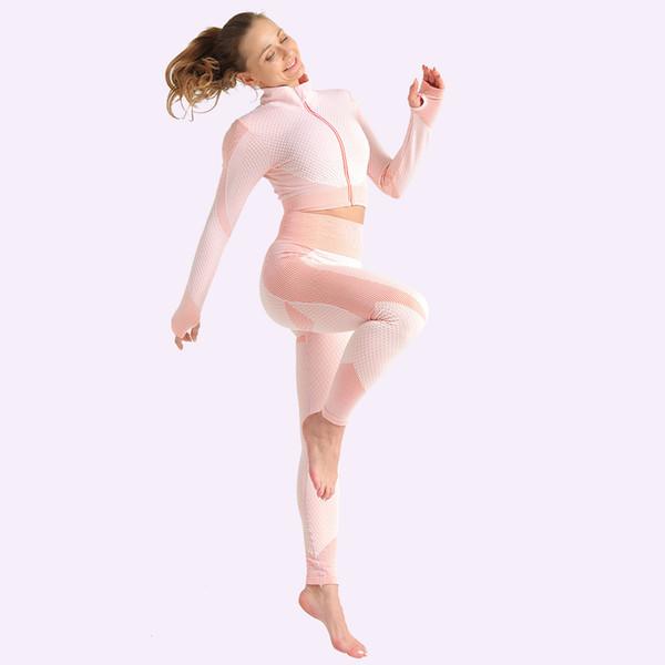 Pink-2pcs coat-leggings