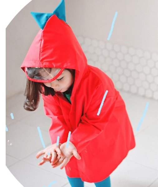 Big Red espessamento Raincoat Dinosaur