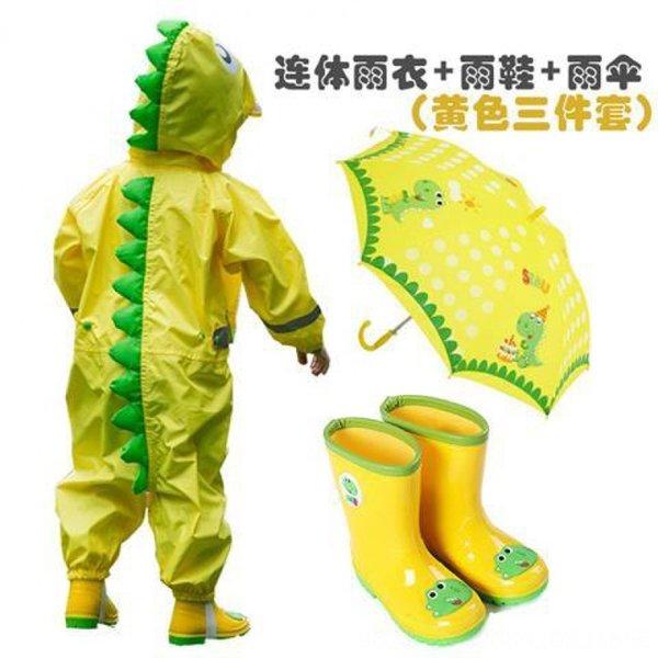 Dinosaur jaune Bottes siamois + pluie + U