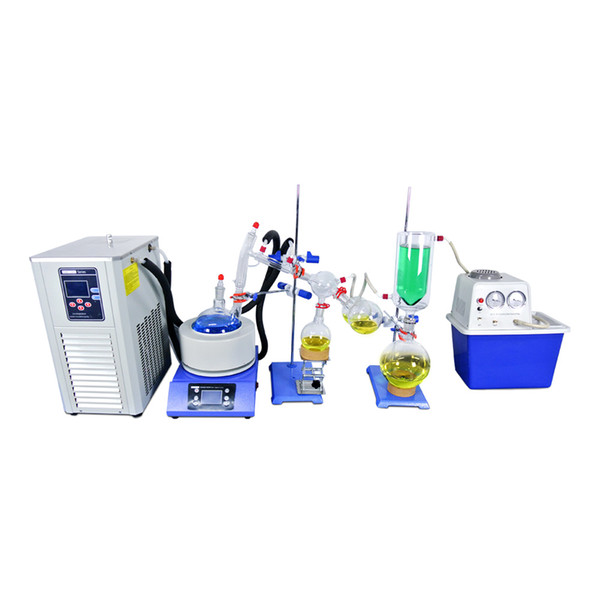 best selling ZOIBKD 2L Short Path Distillation Completed Set w Vacuum Pump & Chiller the US Warehouse stock Local shipping Lab supply