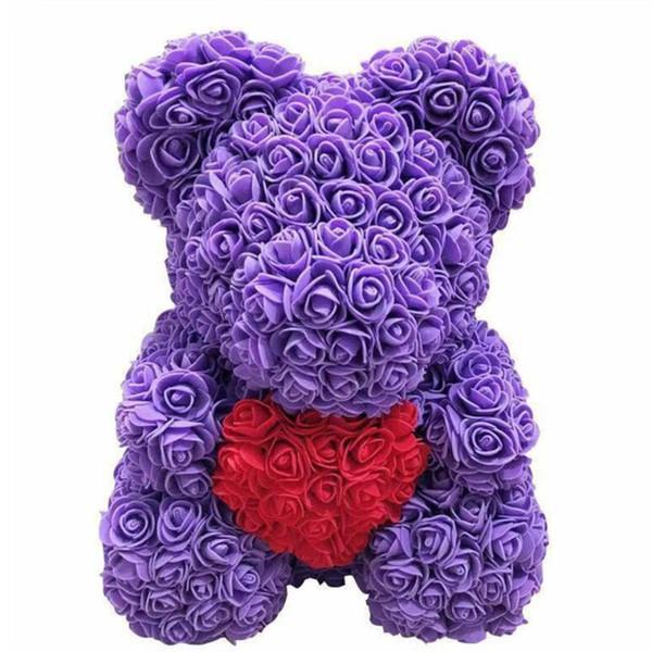 фиолетовый с сердцем