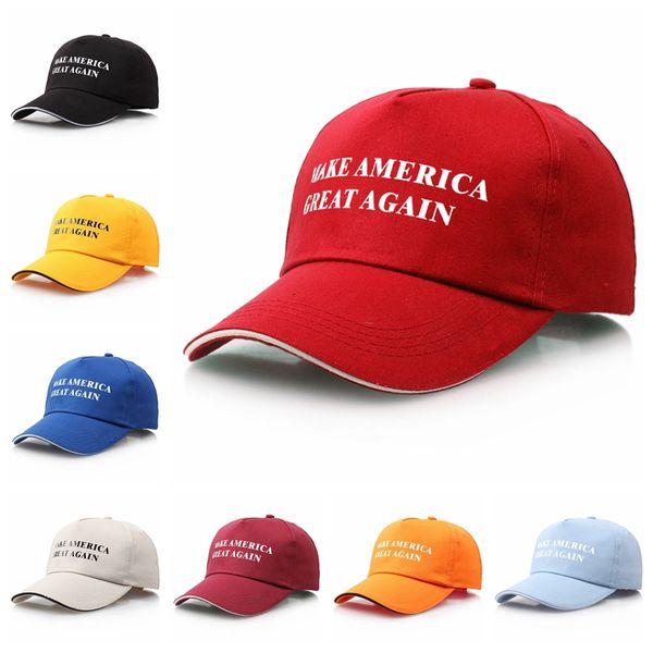 best selling Make America Great Again Hat Donald Trump Baseball Cap 9 Colors Christmas Gift Baseball Caps Snapback Big Kids Ball Caps CCA12316 60pcs