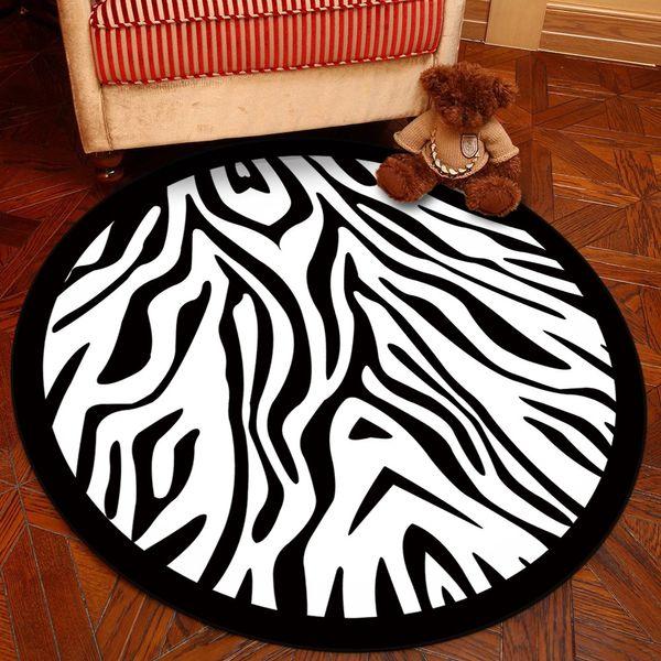 noir et zébrures blanches -200cm