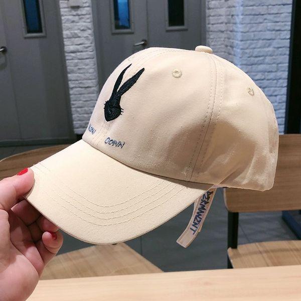 bunny baseball cap cotton beige