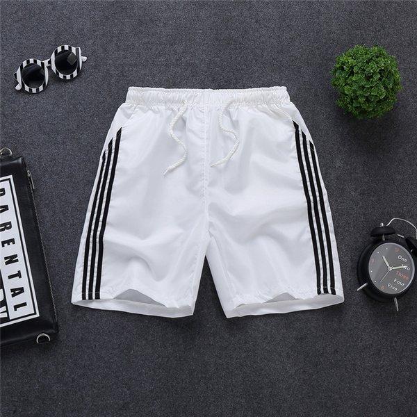 three-bar shorts White