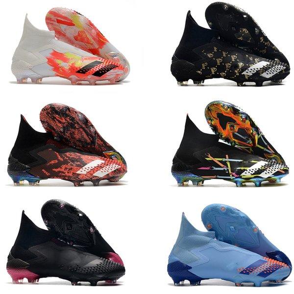 top popular 2020 Predator Mutator 20+ TF IN Uniforia Pack Turf PP Paul Pogba Mens Slip-On Soccer Football Shoes 20+x Cleats Boots Size 39-45 2020