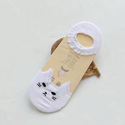 glass Silk Pure White Cat Head -8 pairs