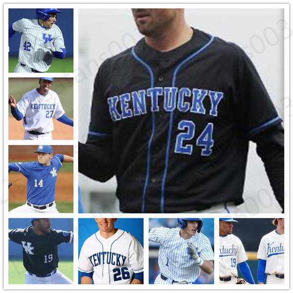 top popular NCAA Kentucky Wildcats college Baseball stitched mens youth Jersey 2 Austin Schultz 1 Jake Thompson 47 Kyle Music 26 Justin Olson 2021