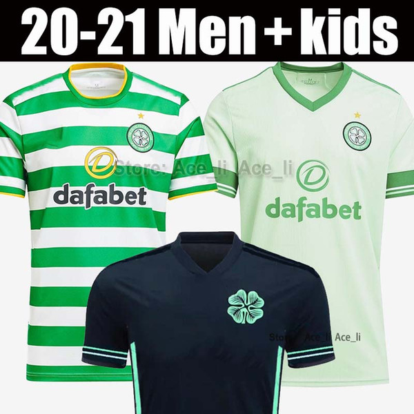 top popular 20 21 Celtic soccer jersey 2020 2021 Men Kids shirt Retro 1998 98 99 05 06 away black 1999 1990 1992 Ireland football shirt 2021