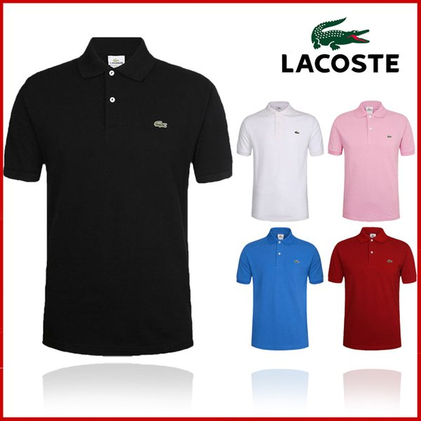 best selling Men's T-shirt European Short-sleeved T-shirt New summer polo shirt with round collar embroidered cotton for men S-6XL L̴acoste
