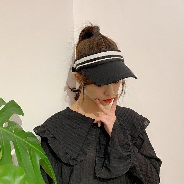 B20204 Porto vento listrado chapéu vazio Preto