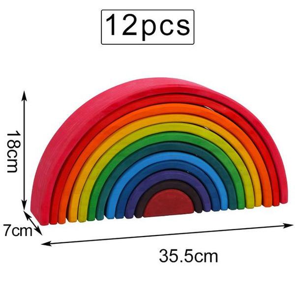 12PCS 다채로운 35.5cm
