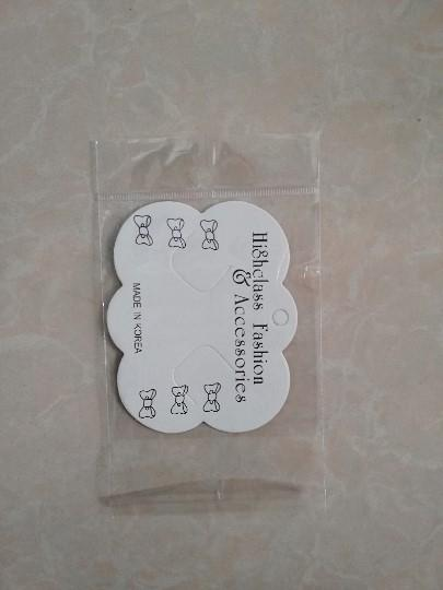 XDC beyaz saç tokası kağıt kartı 200 Zhang H