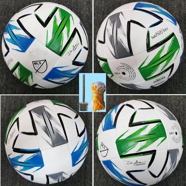 best selling 2020 American League high quality ball MLS Soccer ball 2020 USA Final KYIV PU size 5 balls granules slip-resistant football Free shipping