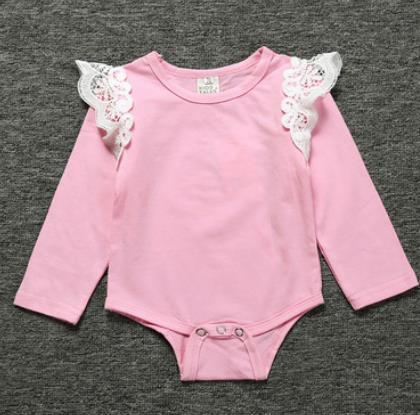 # 3 Lace Ruffle bambino tute