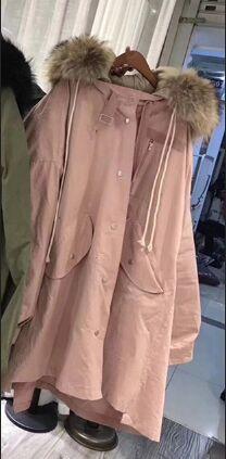 pink coat brown fur