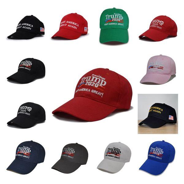 best selling 13Styles Donald Trump Baseball Hat Star Usa Flag Camouflage Cap Keep America Great Hats 3D Embroidery Letter Adjustable Snapback LJJA4305552