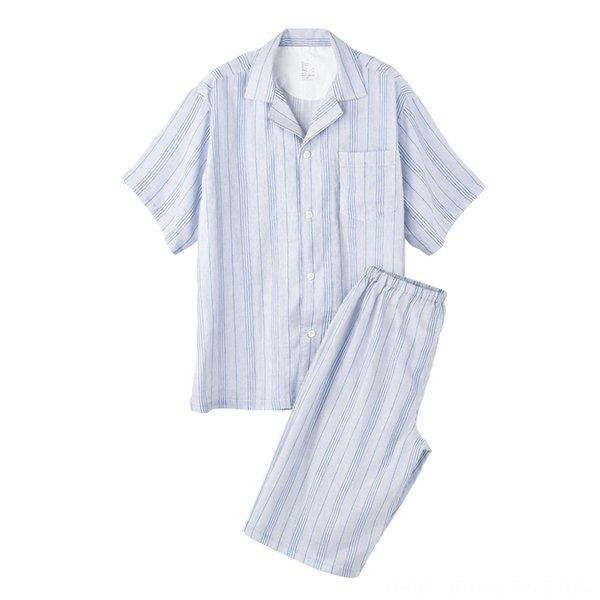 Men's Blue Stripes (short Sleeves + Shor