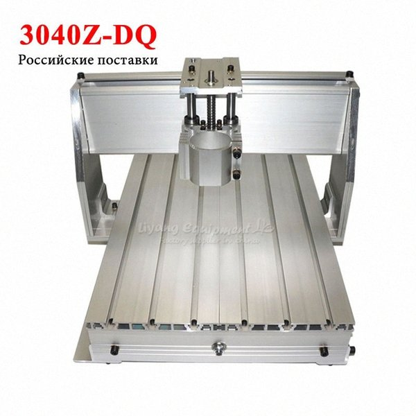 top popular LY rack cnc 3040 z-dq ball screw router frame for diy cnc 3axis wood engraving milling machine parts CDQ7# 2021