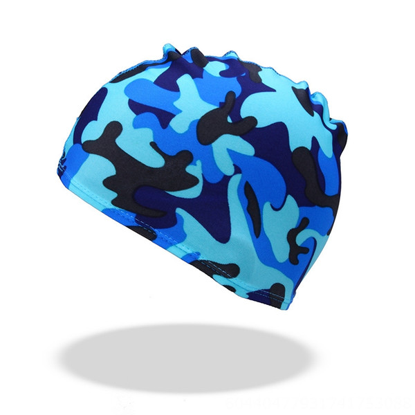 lake blue camouflage cloth hat
