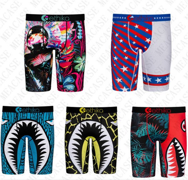 top popular Shark Men Quick-Dry Boxers Long Bottoms Underwears Design Swimwear Shorts Panties Sports Seaside Short Pants Legging Underpants Male D72707 2021