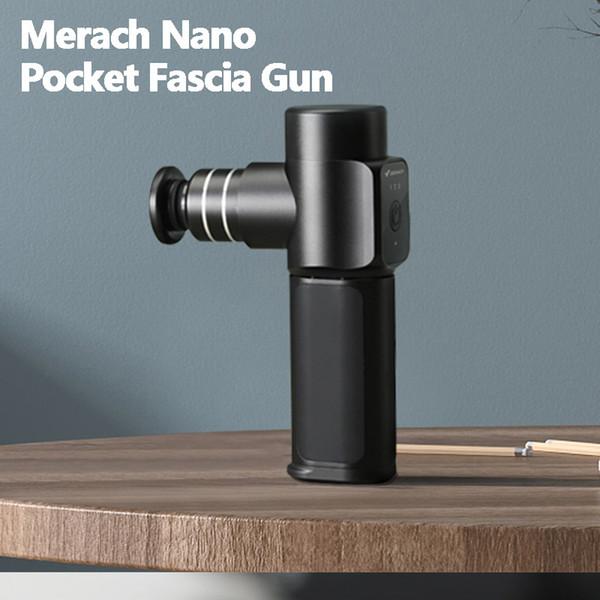 best selling Original Merach Nano Pocket Fascia Gun Small Muscle Relaxer Mini Massager 4 Massage Heads 3Colors For Office Travel Massage Gun