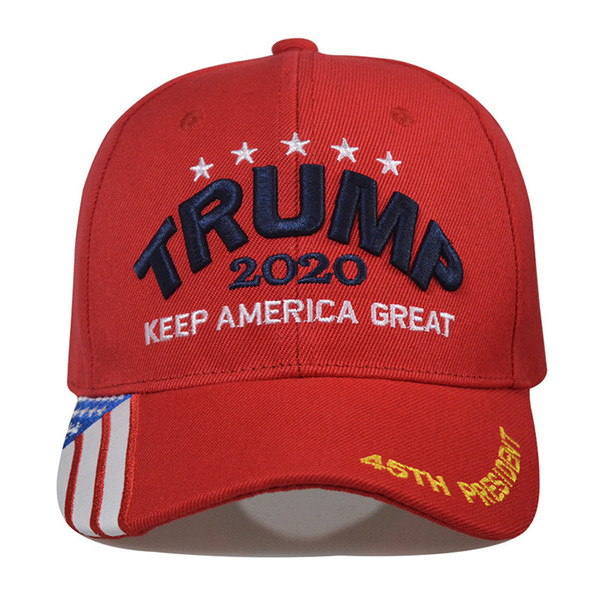 top popular 15styles Trump Baseball Cap Keep America Great Again Caps 2020 Campaign USA 45 American Flag Hat Canvas Embroidered Party Hats GGA3611-1 2021