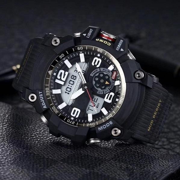 6 검정, 흰색 충격 시계