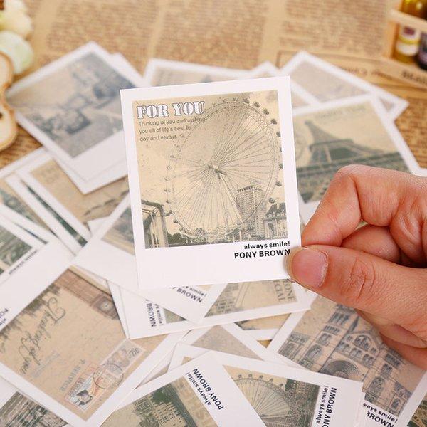 aper Envelopes 40 Pcs/Box Retro Europe Landscape Mini Greeting Card Postcard Birthday Gift Card Set Message Kawaii Stationery School Supp...