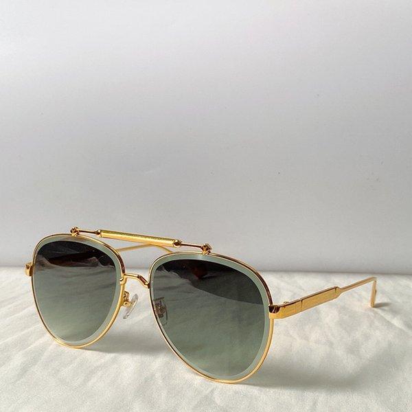 cornice d'oro lente verde