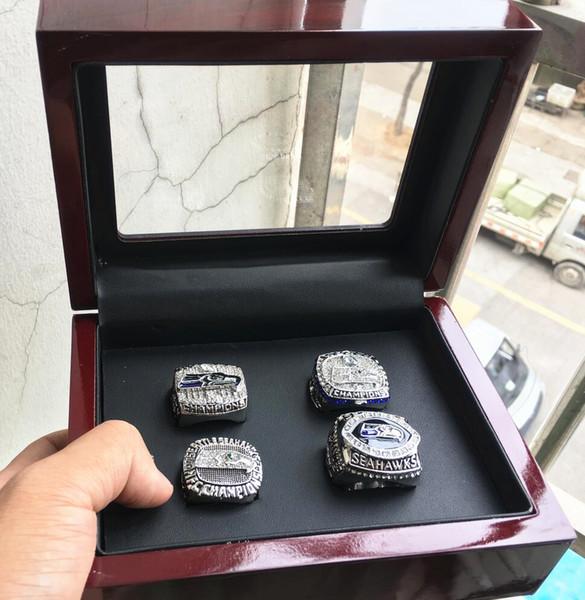 4pcs Seattl e Ring set with wooden box