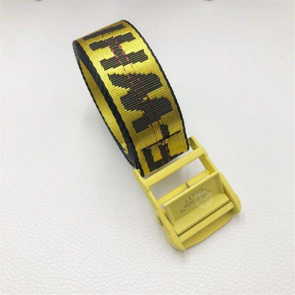 cinturón amarillo hebilla Yellow