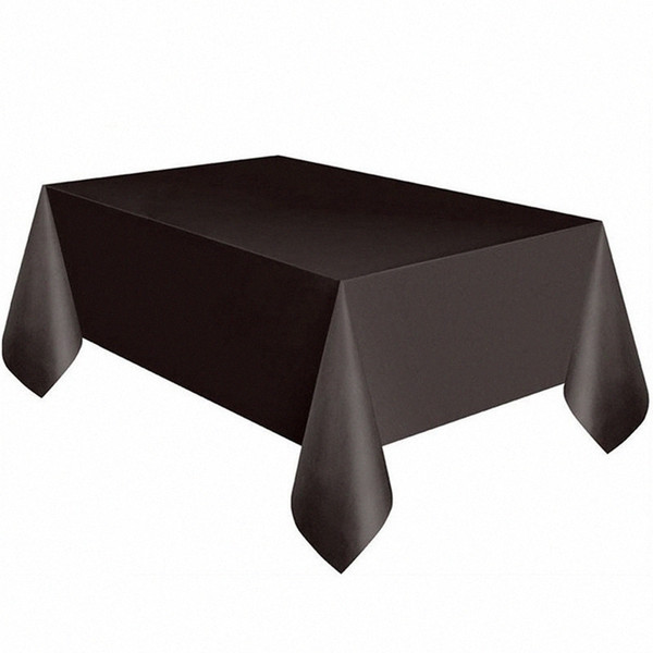 best selling Large Plastic Rectangle Table Cover Cloth Wipe Clean Party Tablecloth Covers Black L0306 NxOh#