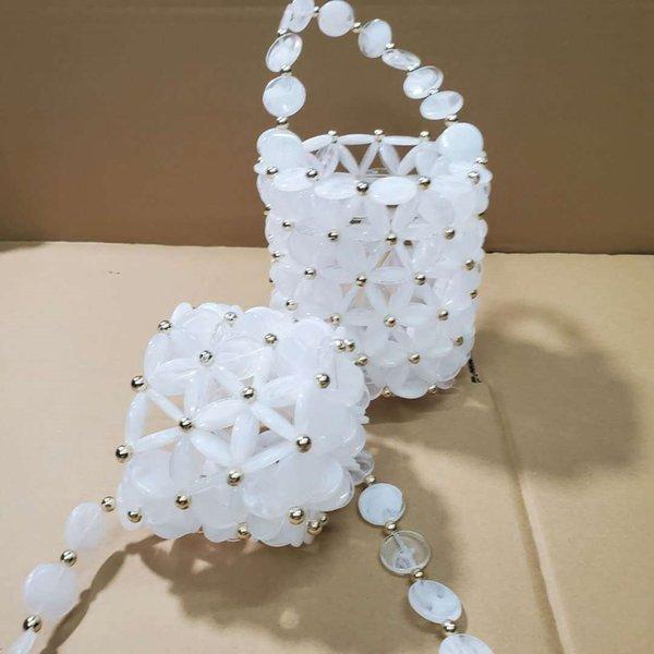 Şeffaf bulut beyaz çanta küçük
