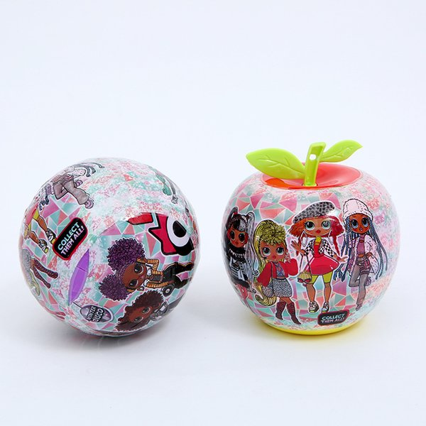 best selling 10cm O.M.G. Royal Fruit ball Long hair Series Fashion Doll Action Figure Toy Kids Unpacking Dolls Girls Funny Dress Up Gift Christmas dhl