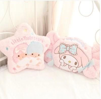 best selling Kawaii Cartoon Pillow My Melody Candy Little Twin Star Shape Plush Soft Back Cushion Creative Sofa Bed Decoration Stuffed Dolls MX200716