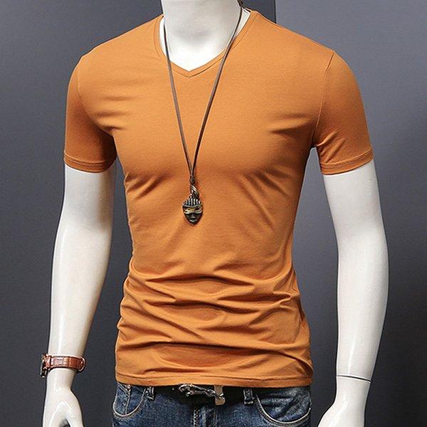 V cuello naranja