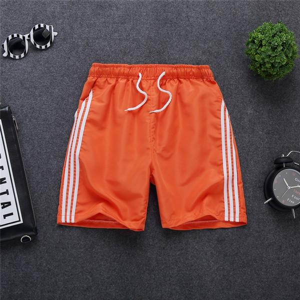 three-bar shorts Orange