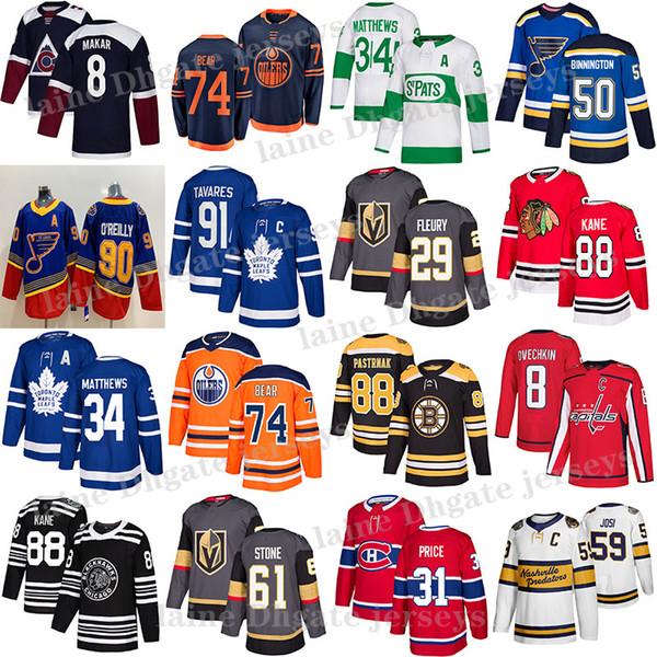 best selling Toronto Maple Leafs Jersey 91 John Tavares 34 Auston Matthew Edmonton Oilers 97 Connor McDavid Vegas Golden Knights 29 Fleury Hockey Jerseys
