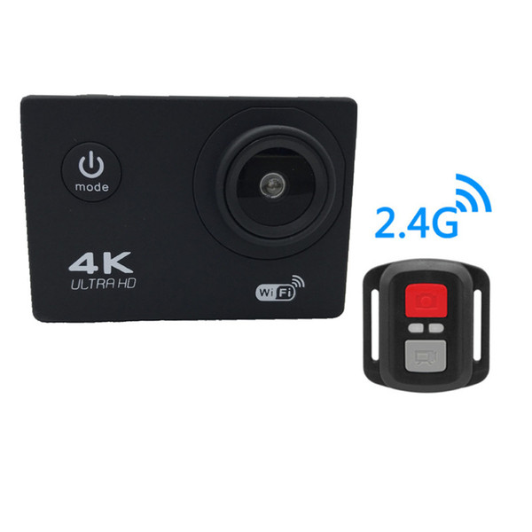 "best selling 2020-Action camera F60R 4K 30fps 1080p 60fps WiFi 2.0"" 170D Helmet Cam waterproof Sports camera+ Remote control 7 colors"